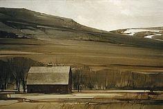"""Joseph Alleman / 2006 / Foothills / Watercolor / 15"""" x 22"""""""