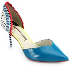 Sophia Webster Suna Patent Leather Mixed Media d'Orsay Pumps $545