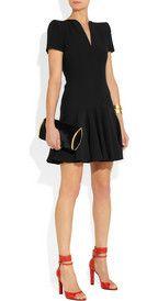 Alexander McQueenStructured-shoulder crepe dress
