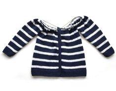 Chaqueta de punto marinera DIY - Tutorial y patrón Dorothy Rose, Knit Vest, Baby Knitting, Knit Crochet, Pullover, Sweaters, Handmade, Diy, Lana