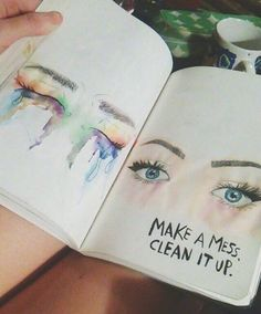 This journal everywhere, my journal, journal pages, girl crying drawing, ar Kunstjournal Inspiration, Art Journal Inspiration, Art Inspo, Journal Ideas Tumblr, Wreck This Journal, My Journal, Journal Pages, Journal Quotes, Art Sketches