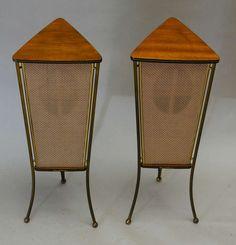 Mid-Century Modern Freak | 1960s Schaub Lorenz WalnutEnd Table Speakers |...