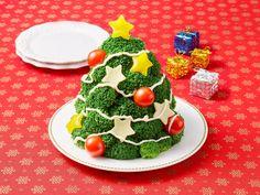 ブロッコリーのクリスマスツリーサラダ | クレライフ | クレハの家庭用品サイト Cake, Desserts, Recipes, Food, Tailgate Desserts, Deserts, Kuchen, Recipies, Essen