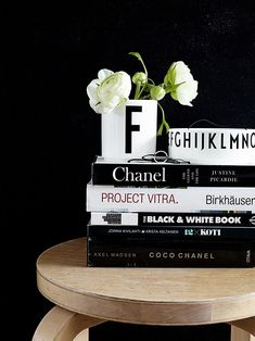 Via Mrs Jones | Design Letters | Black and White. So easy to DIY from the items you already have at home.