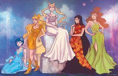 Princess Senshi- Inner Senshi by regeener on deviantART