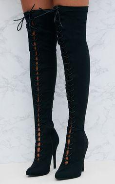À lacets et talon bottier Chaussette Fit Bottines Extensible Bout Pointu Victorian Chunky