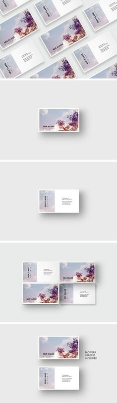 Purple tree business card template Templates **Business card template for an great appearance , the background image is included – PSD-File**Th by AgataCreate