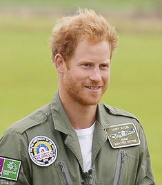 Prince Harry showed off a rugged new look with a beard at Goodwood Aerodrome in West Sussex, where he celebrated his 31st birthday on Tuesday