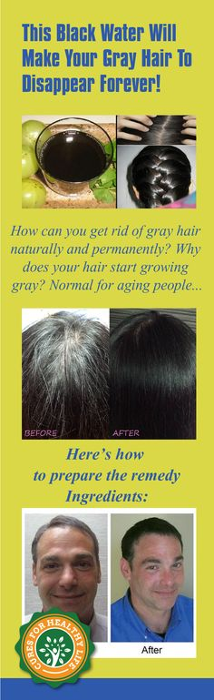 How can you get rid of gray hair naturally and permanently? Why does your hair start growing gray? Normal for aging people to have gray hair but it can become a problem if you start growing gray hair prematurely.