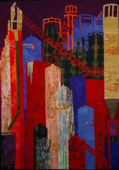 Elizabeth Barton's industrial and architectural quilts inspire me