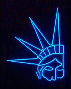Neon Statue of Lib - neon lo-res by finefoto, via Flickr