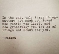 In the end ...