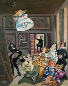 Uno de las mejores viñetas de  Antonio Mingote. Este genial dibujante representa a Velázquez pintando Las Meninas  vía http://edu-plastica.blogspot.com.es