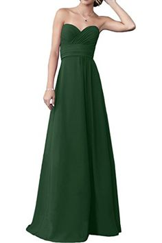 Vienna Bride Simple Sweetheart Chiffon Long Wedding Guest Evening Party Dress8Hunter Green * Details can be found by clicking on the image.