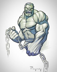 The Incredible Hulk was a great character to use for teaching the deltoids. Check out the lesson at proko.com/157
