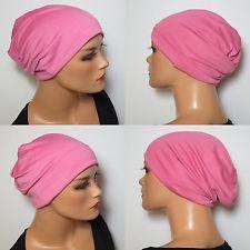 ALLROUNDMÜTZE f. CHEMO  pink  100% Baumwolle vielseitig tragbar  BEANIE modisch
