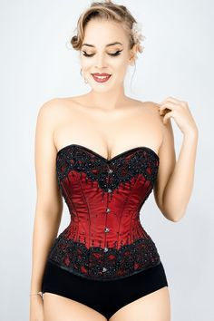 6d3f5bbabe Embellished Couture Underbust Corset Waspie In Green. Matthew Clements