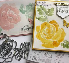 Watercolor love! This set and framelits are the BEST! #stampinup #2016occasionscatalog