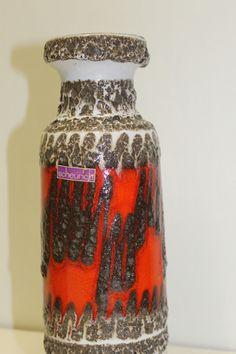 "Vintage ""fat lava"" vase W-Germany.  In top shape."