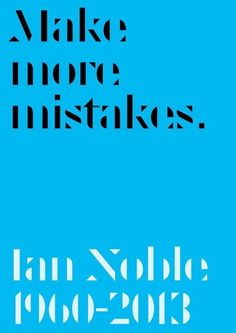 Paul McNeil / Ian Noble Tribute / Poster / 2013