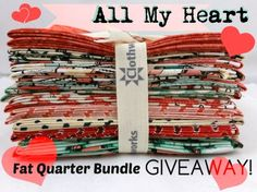 FabricWorm: Fabricworm Giveaway: All My Heart by Iron Orchid Designs