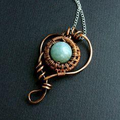 Encircled - Aquamarine and Copper