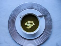 Kale Avocado Soup is a luscious day 5 healing foods recipe for A Harmony Healing's Free 5 day healing whole foods detox cleanse!  #superfoods #soups