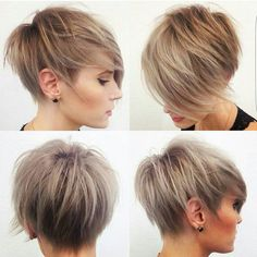 Textured long pixie                                                       …
