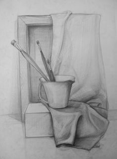 has the most swo… Easy Pencil Drawings, Art Drawings Sketches Simple, Pencil Sketch Drawing, Cool Drawings, Drawing Ideas, Pencil Painting, Sketch Painting, Perspective Art, Object Drawing