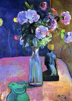 Vase with Flowers - Paul Gauguin