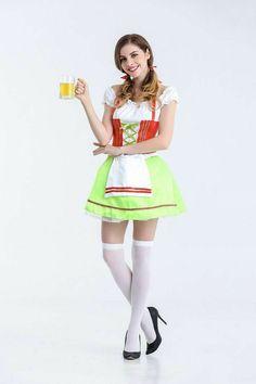 Short Oktoberfest Women's Wench-Style Costume Dress M-XL Beer Girl Halloween, Adult Halloween, Halloween Dress, Halloween Costumes, Costume Oktoberfest, Octoberfest Girls, Costume Dress, Adulting, Summer Dresses