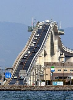 This overpass in Japan looks extremely slope from a certain angle - 9GAG Funny Good Morning Images, Wow Video, Beautiful Places To Travel, Old Houses, Best Funny Pictures, Skyscraper, Places To Visit, Japan, Things To Sell