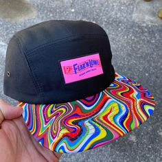 Black Dad Hat,Custom Colorful Chenille Fashion Patched Hat