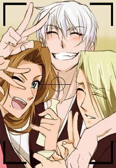 Gin, Rangiku, Izuru....oh mt gawd this is adorable