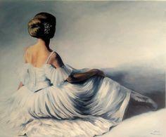 Ballerina painting by Agata Mikulska-Sienkiewicz, acryl on canvas, 120x100 cm