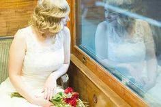 Reflection #vintage #wedding at the #train museum #fingerwaves