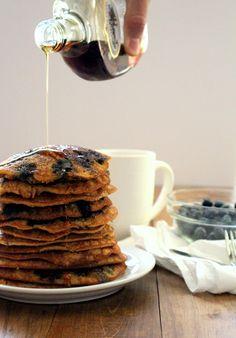 Grain Free Blueberry Lemon Pancakes