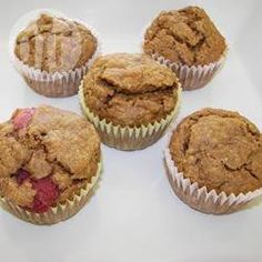 Foto recept: Volkoren muffins met aardbeien en bananen