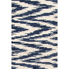 What's a chekat? It's our harmonious marriage of traditional chevron and ikat patterns on a woven wool area rug! Aw . . . we love a happy ending.