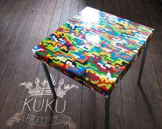 table basse ou d'appoint en briques Lego