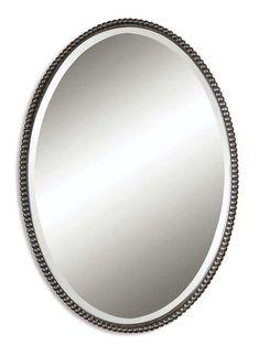 Uttermost 01101 B Sherise Bronze Oval Mirrors