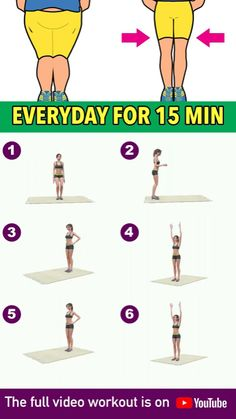When it comes to leg fat burn, there are only a few basic exercises that are the best at toning your leg muscles, making them stronger, and burning unwanted fat. In this workout I have included all of them, one after another. The result is this simpl Quick Workout Routine, Full Body Gym Workout, Gym Workout Videos, Gym Workout For Beginners, Fitness Workout For Women, Easy Workouts, Fitness Legs, Calf Muscle Workout, Inner Leg Workouts