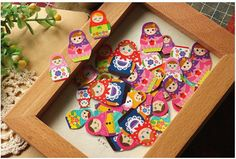Qty: 1 pack - 70 stickers  Sticker size: 1.5m x 1cm / 2.8cm x 1.8 Material: Paper    More Matryoshka please visit