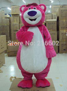 Pink LOTSO Bear Mascot costume Pink Bear Mascot costume Sales  Free shipping #Affiliate