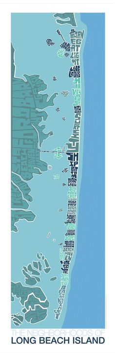 Long Beach Island New Jersey Type Map