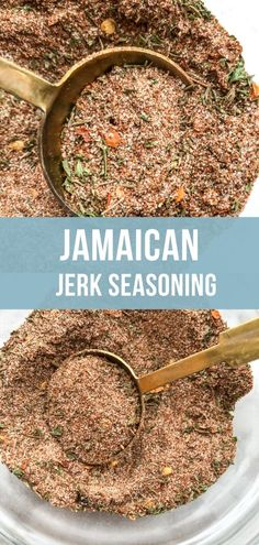 A flavorful homemade spice rub for Jerk Seasoning which can be used to flavor any type of protein like chicken or pork Serve with Jamaican rice and peas on the side Recipe included in post diy seasonings Jamaican Dishes, Jamaican Rice, Jamaican Recipes, Chicken Spices, Chicken Seasoning, Seasoning Mixes, Chicken Recipes, Chicken Rub, Chicken Dips