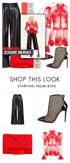 """Zuhair Murad"" by yurisnazalieth ❤ liked on Polyvore featuring Zuhair Murad, Christian Louboutin and Esin Akan"
