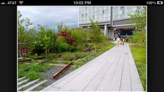 The High Line.  Green space from old elevated tracks.