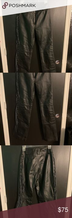 DEFY Mens Cow Skin Full Grain Motorcycle Heavy Duty Stretchable Leather Pants 42