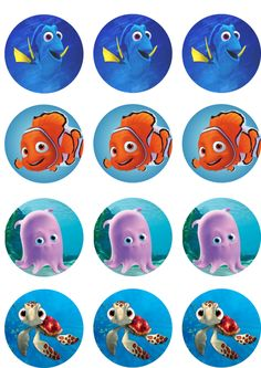 Dory & Nemo Edible Image Cupcake Toppers by ShoreCakeSupply on Etsy